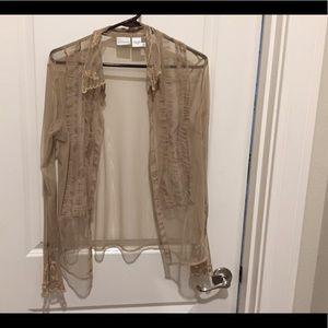 Lace Taupe Blouse